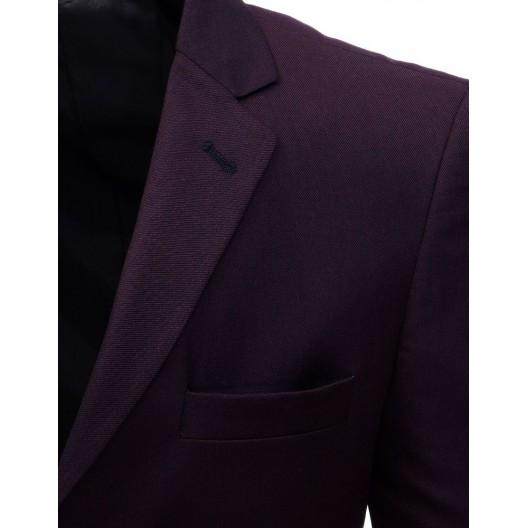 Štýlové pánske sako slim fit v bordovej farbe
