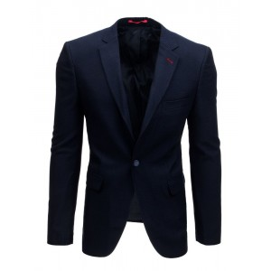 Granátovo modré pánske sako na voľný deň