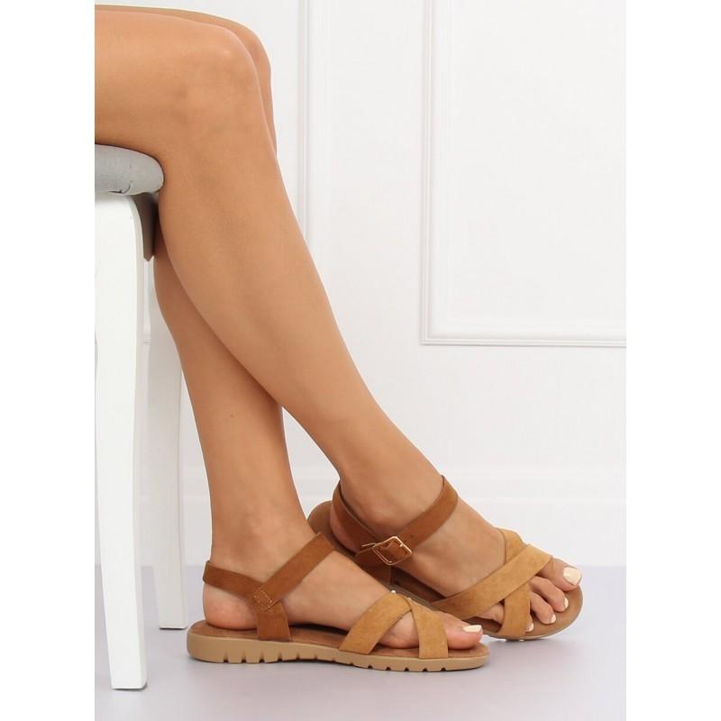 512243dffb78 Pohodlné dámske semišové sandále na leto v hnedej farbe