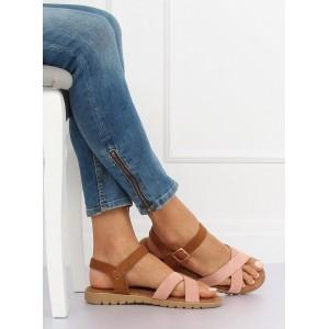 Dámske sandále v efektívnom ružovo hnedom dvojfarebnom prevedení