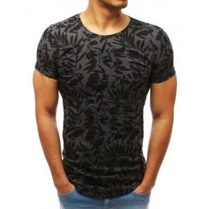 Elegantné pánske čierne tričko