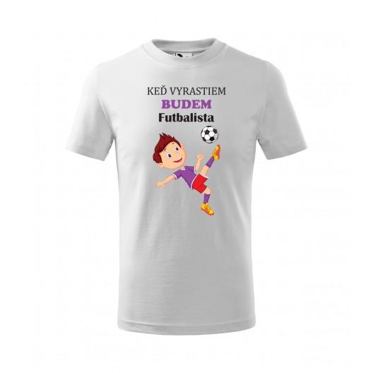 Tričko s potlačou pre budúceho futbalistu