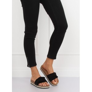 Čierne elegantné dámske šľapky