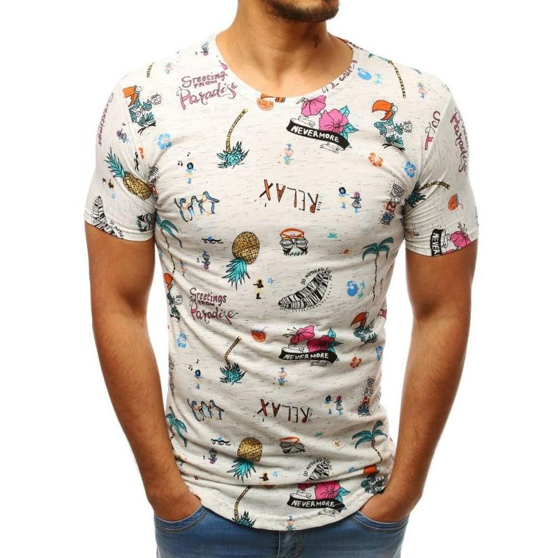 540e141d49b5 Originálne pánske tričko s potlačou letných motívov