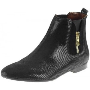 Módne dámske topánky vyrobené z vysoko kvalitnej pravej kože čiernej farby