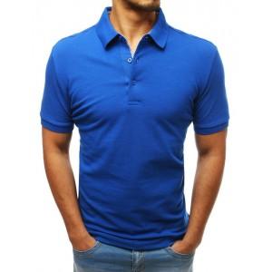 Pánska bavlnená polokošeľa modrej farby