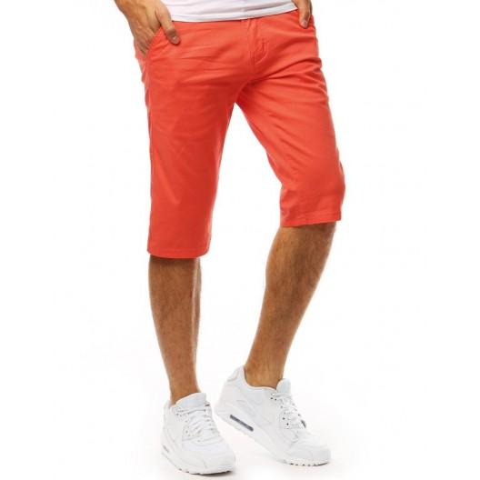 Štýlové pánske kraťasy v krásnej korálovo oranžovej farbe