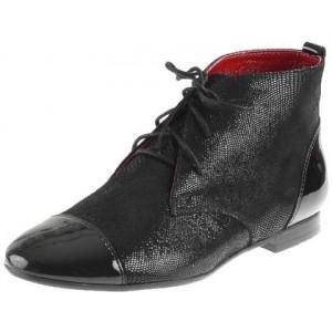 Moderné dámske topánky z pravej kože v čiernej farbe
