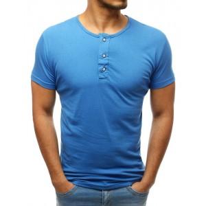 Svetlo modré pánske tričko s krátkym rukávom