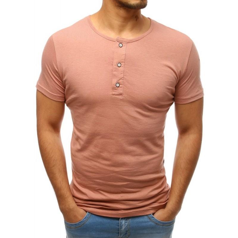 781ea3769f4d Pánske letné tričko s krátkym rukávom lososovej farby