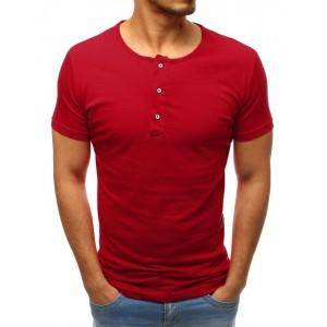 Moderné pánske bavlnené tričko bordovej farby