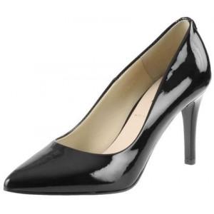 Spoločenská lakovaná dámska obuv čiernej farby