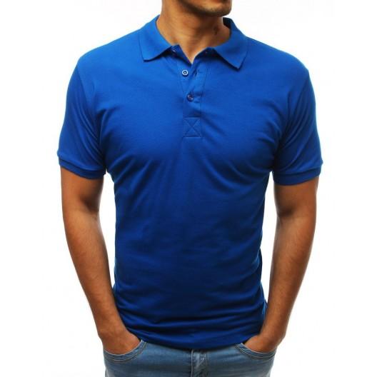 Trendy pánska polokošeľa modrej farby