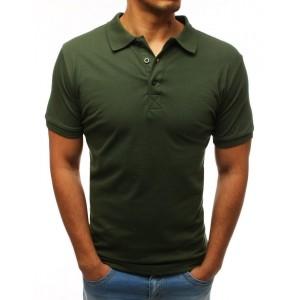 Pánska polokošeľa s krátkym rukávom v khaki farbe