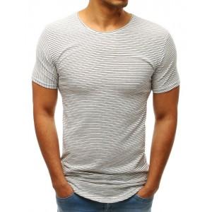 3320c94ef561 Pásikavé pánske tričko bielej farby