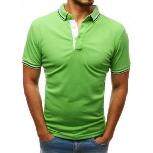 Trendy pánske polo tričko v letnej svetlo zelenej farbe