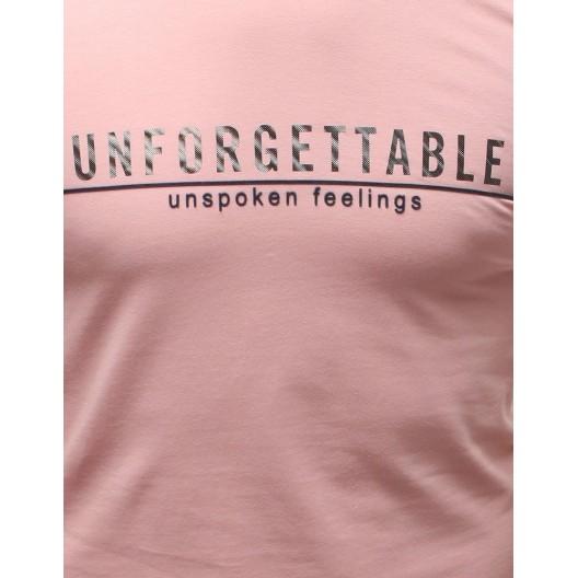 Originálne pánske ružové tričko na leto bez rukávov a s nápisom