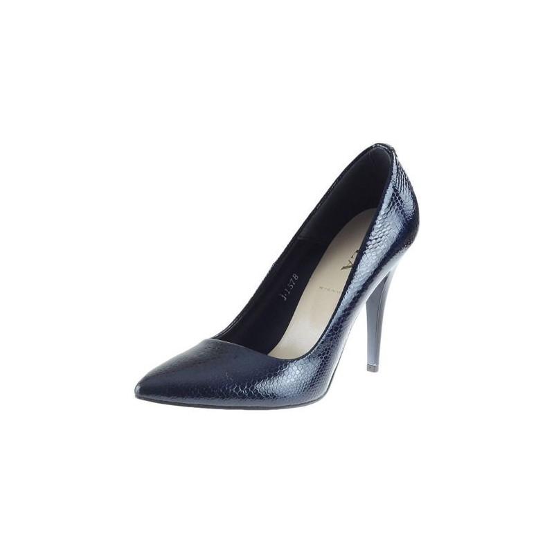cc1655ea7e Luxusné dámske lodičky modrej farby s vysokým podpätkom - fashionday.eu