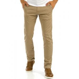 Béžové pánske letné dlhé nohavice