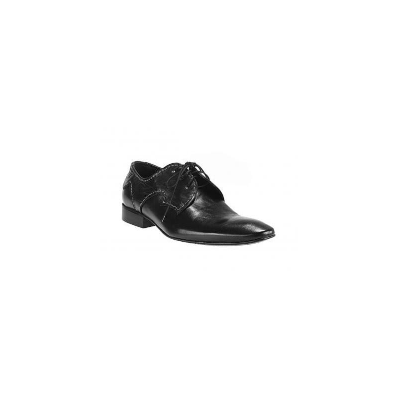 a96e4916fe Predchádzajúci. Šnúrovacie pánske topánky vyrobené z pravej hovädzej kože  čiernej farby ...