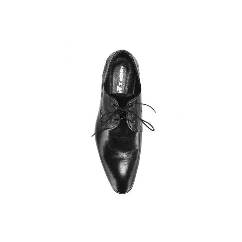 382a0932ef ... kože čiernej farby  Šnúrovacie pánske topánky vyrobené z pravej ...