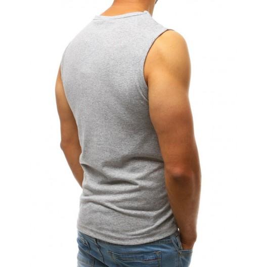 Pánske tričko bez rukávov sivé