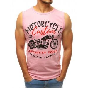 Ružové pánske tričko do posilňovne