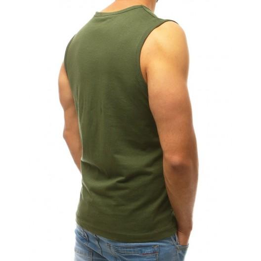 Pánske tričko v zelenej farbe s potlačou