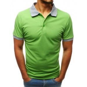 Trendy pánske polo tričko vo výraznej letnej zelenej farbe