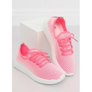 Športové dámske topánky v ružovej farbe na šnurovanie