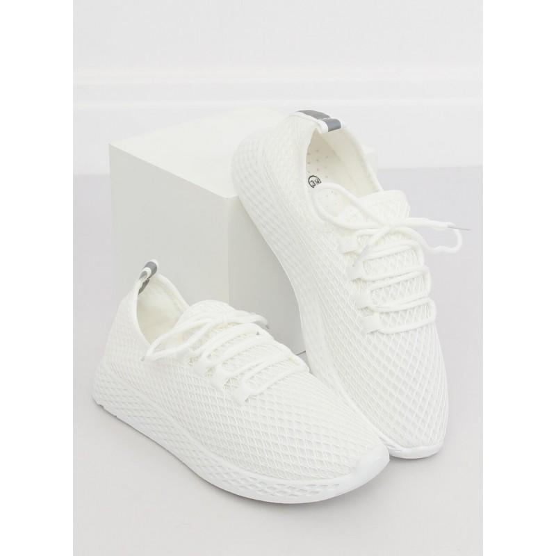 1729dc781b Dámske tenisky v bielej farbe na šnúrovanie