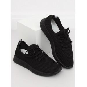 Čierne dámske moderné tenisky na platforme