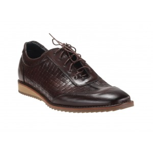 Pánske značkové kožené športové topánky hnedej farby Comodoesano Italy