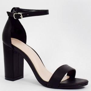 Elegantné dámske čierne sandále na módnom vysokom opätku