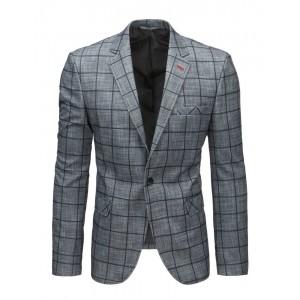 Pánske kockované sako sivé