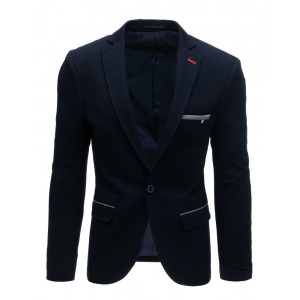 Luxusné tmavomodré pánske sako