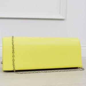 Trendy dámska listová kabelka do ruky v  letnej žltej farbe
