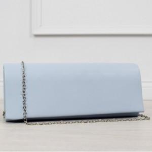 Krásna svetlo modrá dámska listová kabelka