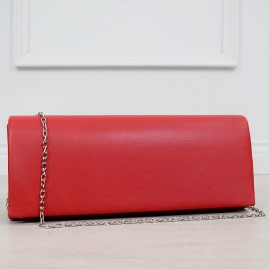 Originálna dámska červená kabelka do spoločnosti