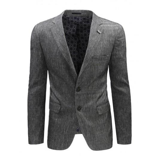 Sivý pánsky retro oblek