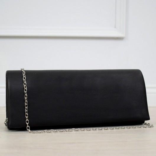 Čierna dámska elegantná listová kabelka do ruky