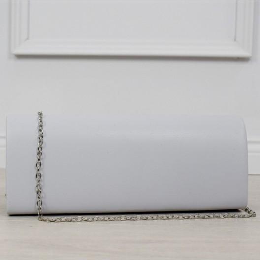 Spoločenská dámska kabelka do ruky so striebornou retiazkou
