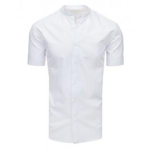 Pánska spoločenská košeľa bielej farby s krátkym rukávom