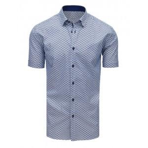 Moderná vzorovaná pánska košeľa s krátkym rukávom