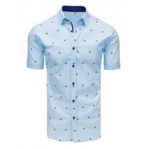 Pánska košeľa s krátkym rukávom svetlo modrej farby