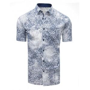 Letná pánska košeľa bielej farby s trendovým vzorom