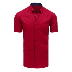 Bordová pánska spoločenská košeľa s krátkym rukávom