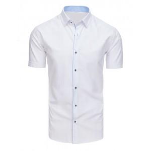 Biela pánska spoločenská košeľa s krátkym rukávom