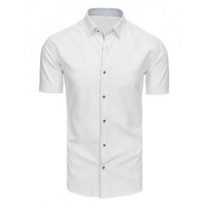 Pánska košeľa slim fit s krátkym rukávom bielej farby