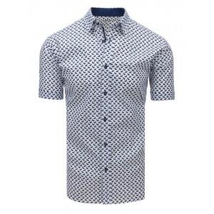 Štýlová vzorovaná pánska košeľa s krátkym rukávom